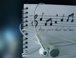 Music Notes by Red--Roses