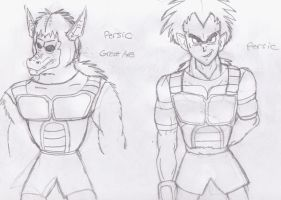 OC Saiyan: Persic by GeotrixQueen