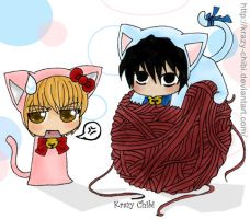Death Note Kittys by Krazy-Chibi