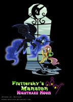Fluttershy's Mansion - Nightmare Moon by Niban-Destikim