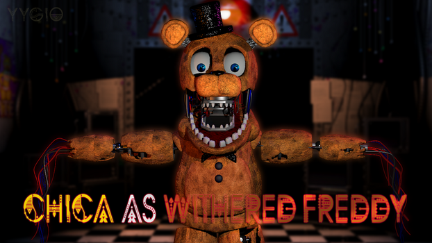 Chica as Withered Freddy by YinyangGio1987