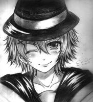 Kurusu Syo Traditional Fanart by AnimexL0ver17