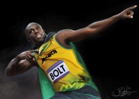 Usain Bolt by JimmyToTheBe