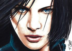 Underworld Selene Sketch Card by Dr-Horrible