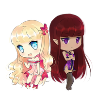 Chibi Vanilla and Mocha by KokoTensho