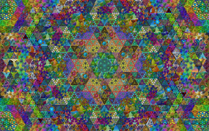 Magic Triangles Mosaic (click to enlarge) by 8DFineArt