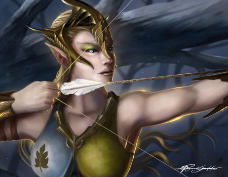 Elven archer by Shockbolt