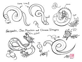 Draw Chinese Dragons etc by Diana-Huang