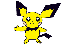 my first pichu paint by twixthepichu