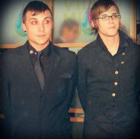 Mikey Way and Frank Iero edit by FromLoveToDeath