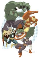 Avengers Print Proof for JALA by paco850