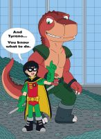 Robin tell Tyrano - You know what to do by MCsaurus