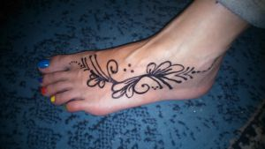 temporary tatoo 1 by barefootersk