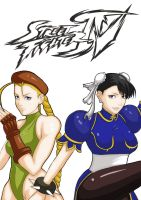 street fighter 4 cammy and chun li by XINGYIYI
