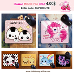 Kawaii mouse pads by tho-be