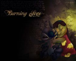 Lilo and Stitch Burning Love by CreamCup-A-Cake