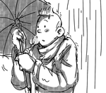 Tintin in the Rain by Hennei