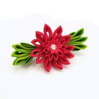 Bright red chrysanthemum clip by offgenemi