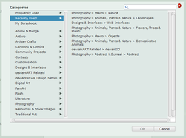 Recently used categories by Grayda