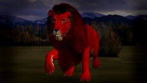 Red Lion?! *Extreme WIP* *Texture Experiment* by KnucklesTheEchidna53