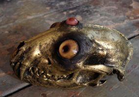 Brass creature skull- Chuckles by missmonster