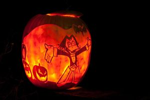 Count Duckula Pumpkin 2009 by Draicwing