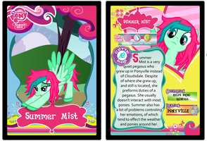 MLP FIM OC : Summer Mist [Trading Card] by Vocachu
