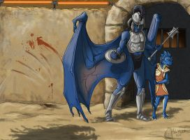 Elix and Sarash in the Pit by AdmYrrek