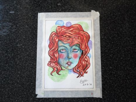 Face - Watercolors by Enio-Gonzalo