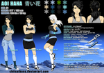 Bleach OC Sheet - AOI HANA by Chiisai-Hana