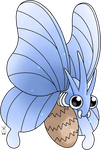 Shiny Venomoth - Blue Beauty by TheWhiteScatterbug