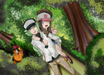 ferriswheelshipping in the wood by hikariangelove