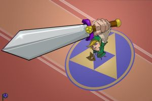 link with sword by pashburn