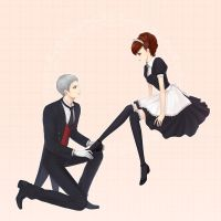 P3P-sanada and hamuko by eliz7