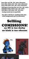 selling commissions by Greer-The-Raven