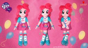 Equestria Girls - Pinkie Pie - Handmade Plush Doll by Lavim