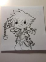 sora Adventure time style mainly the head though.. by Dscapades