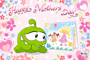 Om Nom: Happy Mother`s Day :) by Maksim2d