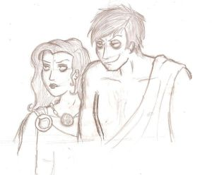 Hades and Persephone doodle