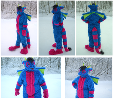 Dragon fursuit by Yokkyena