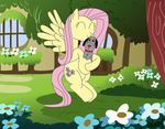 FlutterShy Hugs Sweep by equestriaguy637