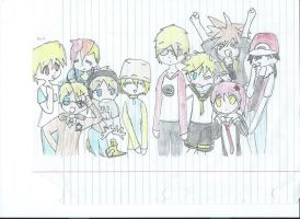 Favorite characters lucky star style by 1sthi1357