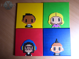 The Black Eyed Peas album cover - H and P beads by floxido
