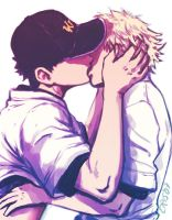 Another kiss -Tajima x Mihashi by Cris-Art