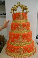 Red Indian wedding cake by The-EvIl-Plankton