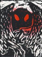 The Mothman ACEO by tencrowns-studio