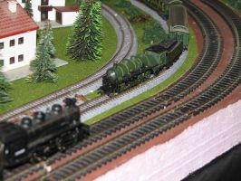 Bachmann Switcher and Marklin Bavarian Pacific by TaionaFan369
