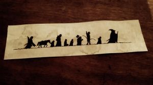 The Lord of the Rings bookmark by Shikuroi