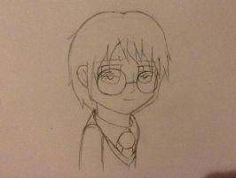 Unfinished Harry Potter Drawing (WIP) by MintFrost12