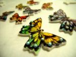 Hand painted butterflies on Gum Paste by alcat2021